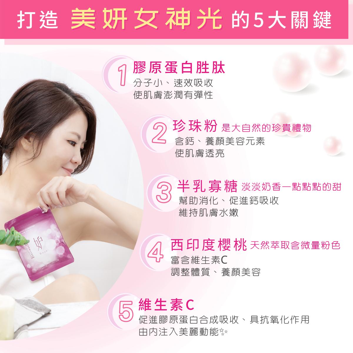 彈潤靚亮美妍錠:打造美妍女神光的5大關鍵