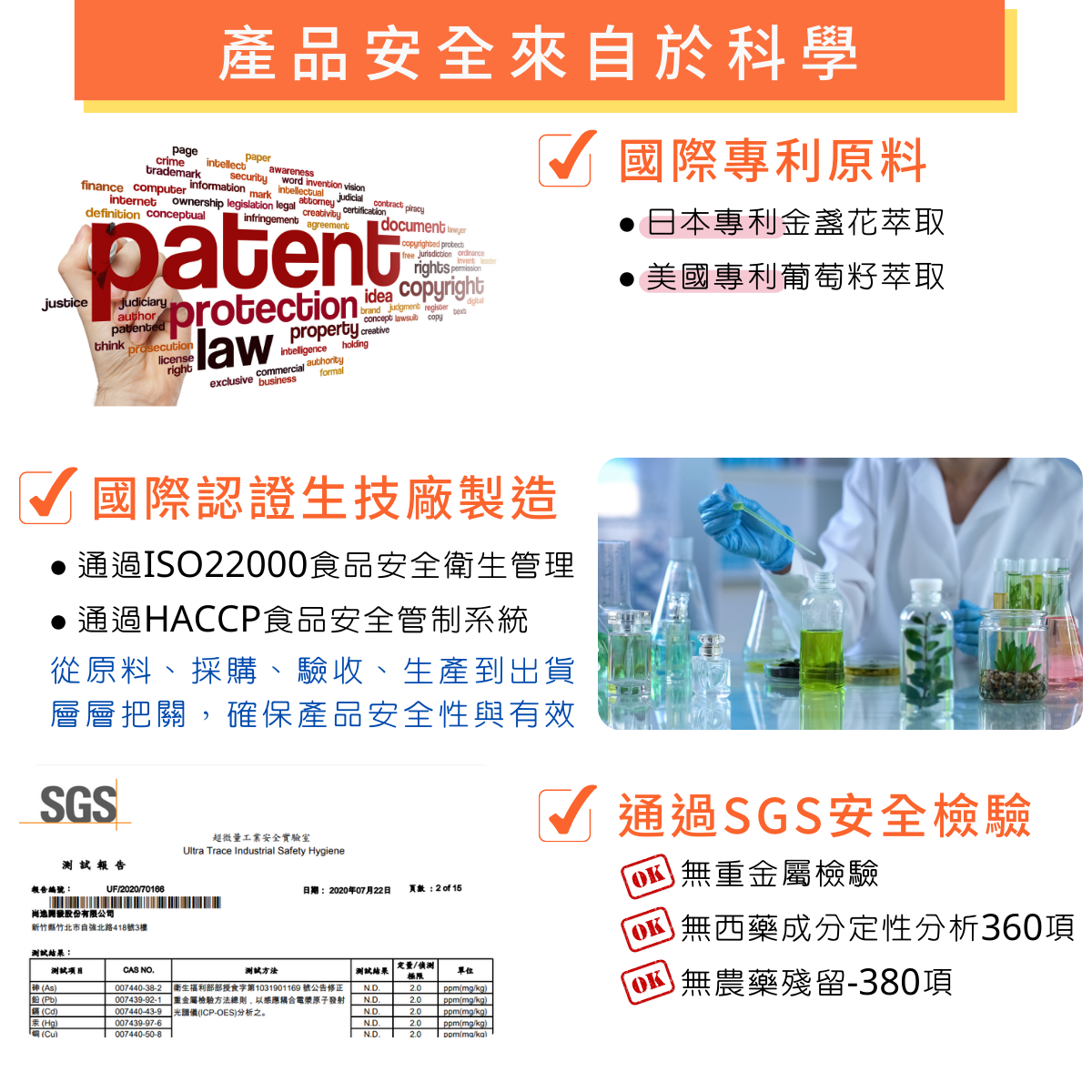 天天舒視 複方葉黃素膠囊:產品安全來自於 科學的要求。
